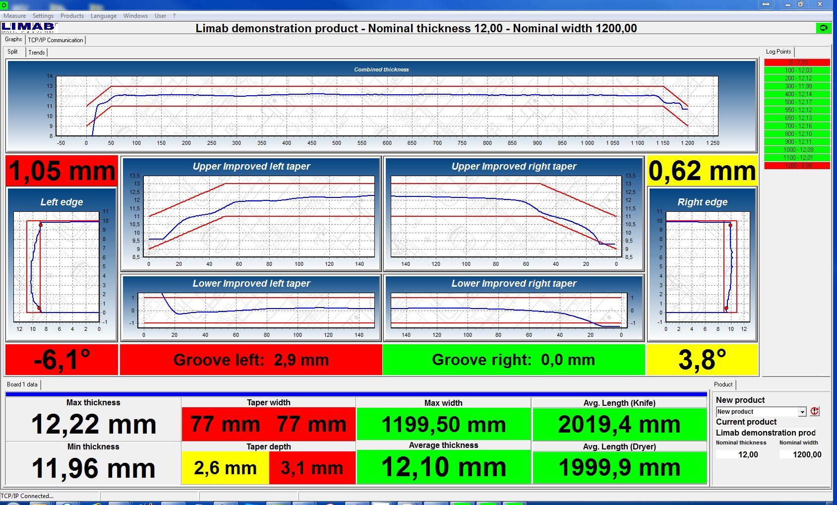 GMS1100 - Operator Screen - Length