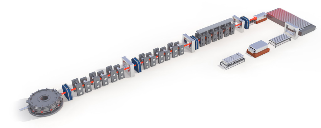 Process layout Bar rolling line