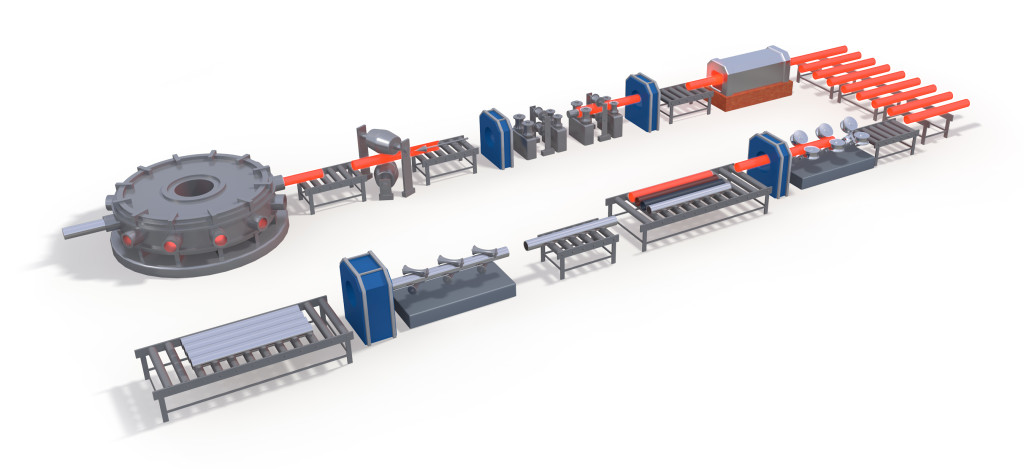 Process Layout Seamless tubes